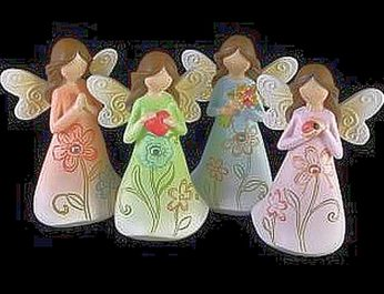 4 large bright angels