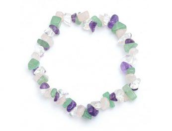 4 crystal chip bracelet