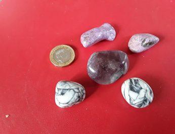 Trio rare healing stones group shot 1